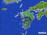 九州地方のアメダス実況(降水量)(2020年06月27日)