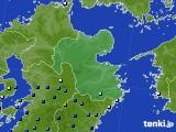大分県のアメダス実況(降水量)(2020年06月27日)