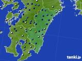 宮崎県のアメダス実況(降水量)(2020年06月27日)