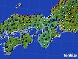 2020年06月27日の近畿地方のアメダス(日照時間)