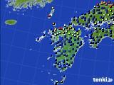 九州地方のアメダス実況(日照時間)(2020年06月27日)