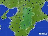 奈良県のアメダス実況(日照時間)(2020年06月27日)
