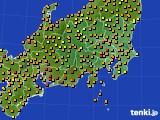 2020年06月27日の関東・甲信地方のアメダス(気温)