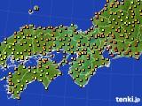 2020年06月27日の近畿地方のアメダス(気温)