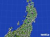 東北地方のアメダス実況(風向・風速)(2020年06月27日)