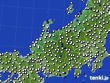 北陸地方のアメダス実況(風向・風速)(2020年06月27日)