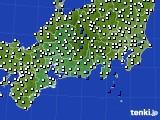 2020年06月27日の東海地方のアメダス(風向・風速)