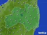 2020年06月27日の福島県のアメダス(風向・風速)