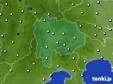 2020年06月27日の山梨県のアメダス(風向・風速)