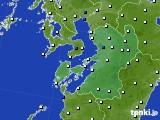 2020年06月27日の熊本県のアメダス(風向・風速)