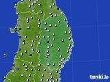 2020年06月27日の岩手県のアメダス(風向・風速)