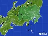 関東・甲信地方のアメダス実況(降水量)(2020年06月28日)