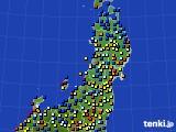2020年06月28日の東北地方のアメダス(日照時間)