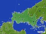 山口県のアメダス実況(日照時間)(2020年06月28日)