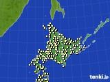 北海道地方のアメダス実況(気温)(2020年06月28日)