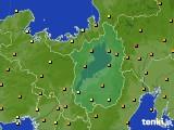 滋賀県のアメダス実況(気温)(2020年06月28日)