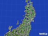 東北地方のアメダス実況(風向・風速)(2020年06月28日)