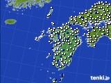 九州地方のアメダス実況(風向・風速)(2020年06月28日)