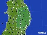 2020年06月28日の岩手県のアメダス(風向・風速)