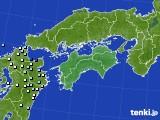 四国地方のアメダス実況(降水量)(2020年06月29日)