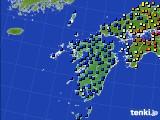 九州地方のアメダス実況(日照時間)(2020年06月29日)