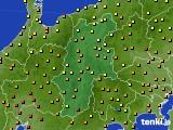 長野県のアメダス実況(気温)(2020年06月29日)