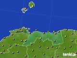 2020年06月29日の鳥取県のアメダス(気温)