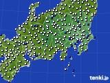 2020年06月29日の関東・甲信地方のアメダス(風向・風速)
