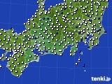 2020年06月29日の東海地方のアメダス(風向・風速)