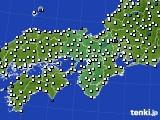2020年06月29日の近畿地方のアメダス(風向・風速)