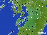 2020年06月29日の熊本県のアメダス(風向・風速)