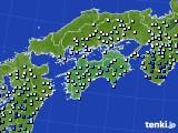 四国地方のアメダス実況(降水量)(2020年06月30日)