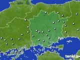 岡山県のアメダス実況(降水量)(2020年06月30日)