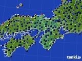 近畿地方のアメダス実況(日照時間)(2020年06月30日)