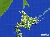 2020年06月30日の北海道地方のアメダス(気温)