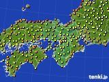 2020年06月30日の近畿地方のアメダス(気温)