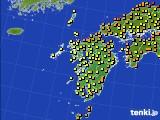 2020年06月30日の九州地方のアメダス(気温)