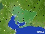 2020年06月30日の愛知県のアメダス(気温)
