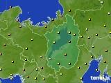 滋賀県のアメダス実況(気温)(2020年06月30日)