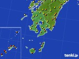 2020年06月30日の鹿児島県のアメダス(気温)