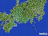 2020年06月30日の東海地方のアメダス(風向・風速)