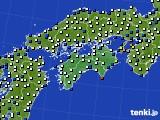 2020年06月30日の四国地方のアメダス(風向・風速)