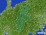 長野県のアメダス実況(風向・風速)(2020年06月30日)