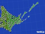 道東のアメダス実況(風向・風速)(2020年06月30日)