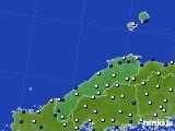 2020年06月30日の島根県のアメダス(風向・風速)