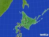 2020年07月01日の北海道地方のアメダス(降水量)