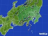 関東・甲信地方のアメダス実況(降水量)(2020年07月01日)