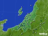 新潟県のアメダス実況(降水量)(2020年07月01日)