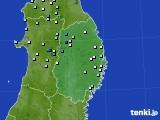 2020年07月01日の岩手県のアメダス(降水量)