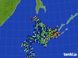 2020年07月01日の北海道地方のアメダス(日照時間)